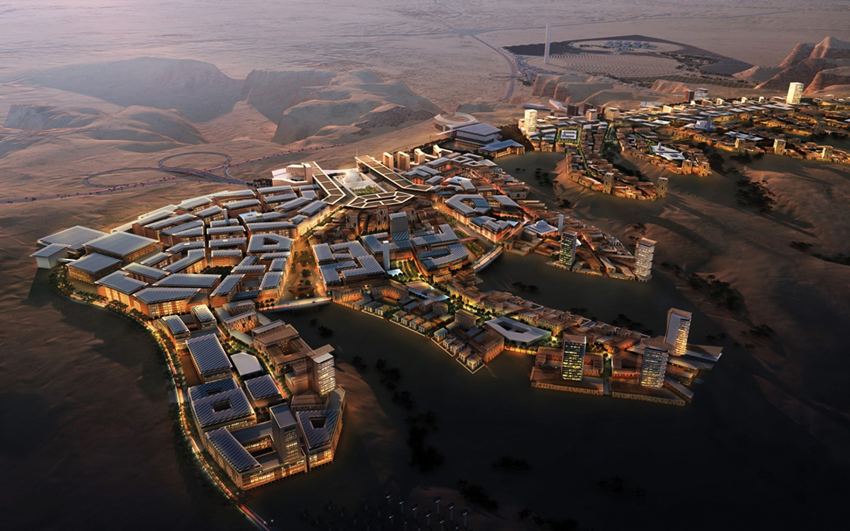 aerial view of city masterplan