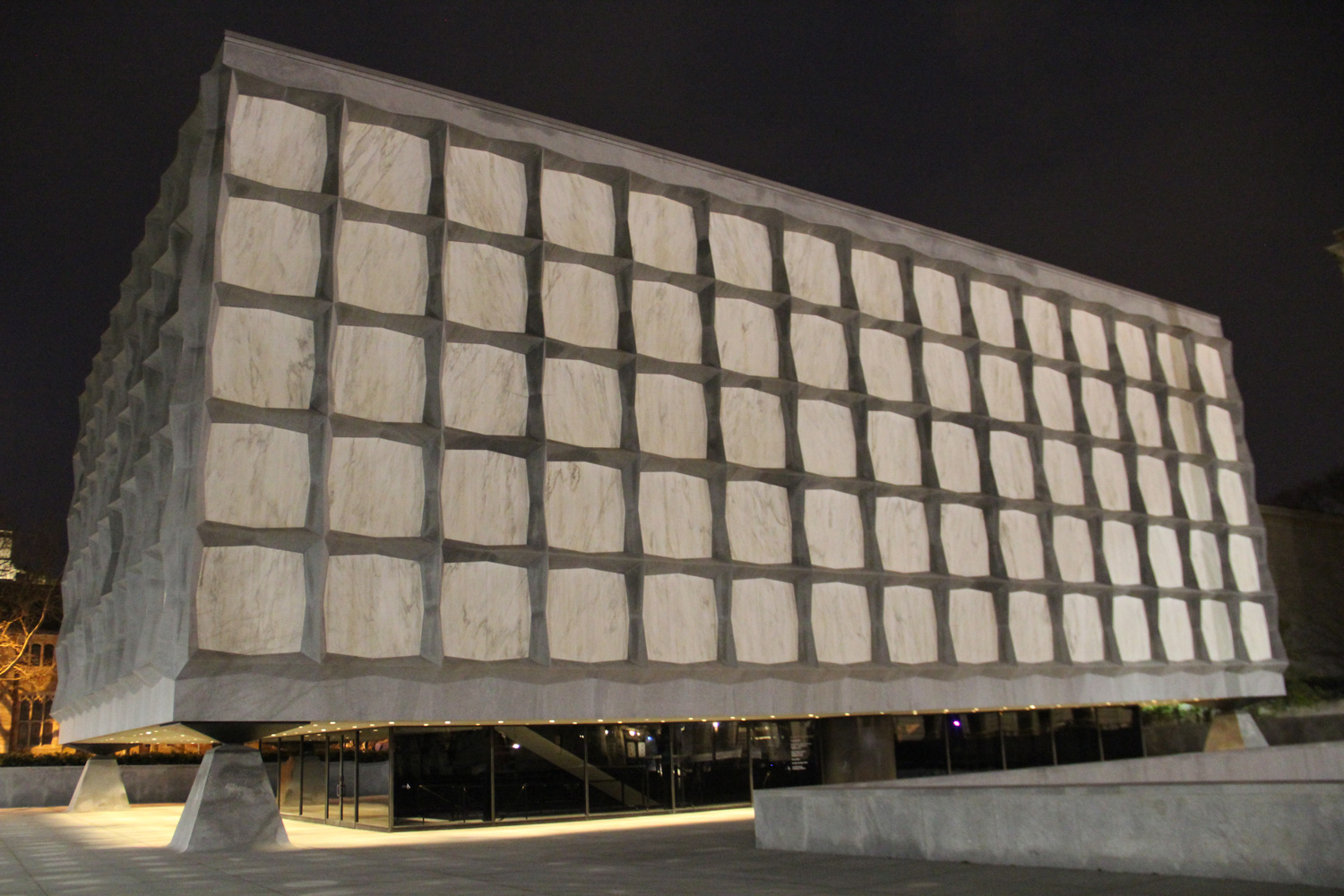 Beinecke Library At Night