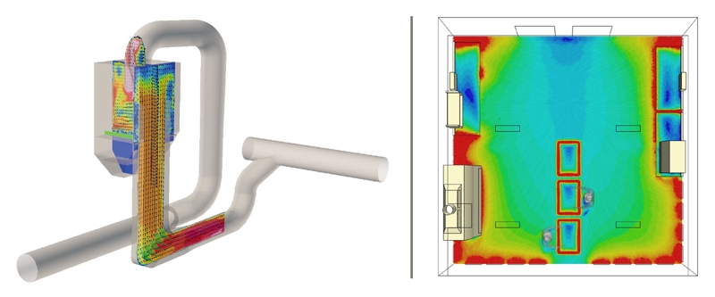 CFD of Industrial Hopper and Cleanroom