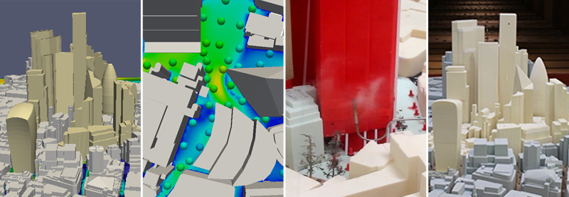 CFD and Wind Tunnel images