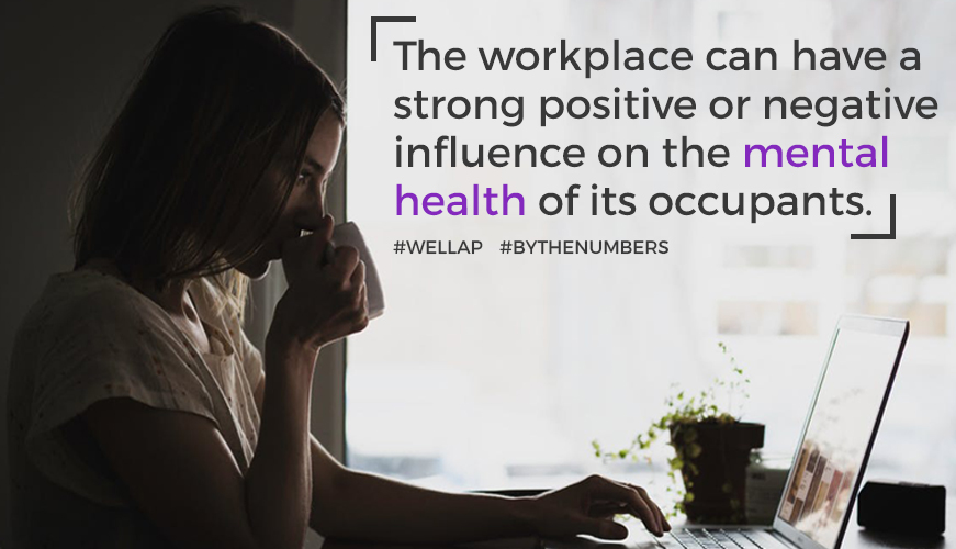 The workplace can have a strong positive or negative influence on the mental health of its occupants