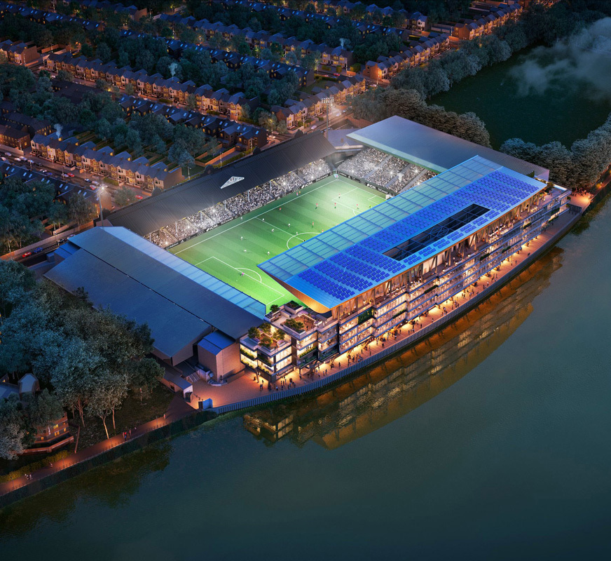 Image: Fulham Football Club Riverside Stand