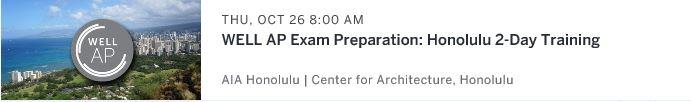 WELL AP Exam preparation Workshop Honolulu