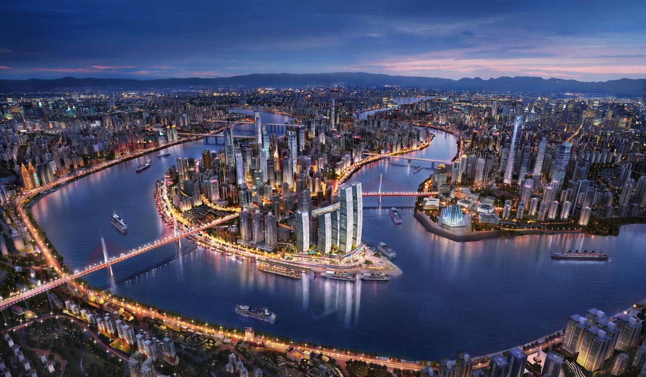 Chongqing Raffles City Rendering