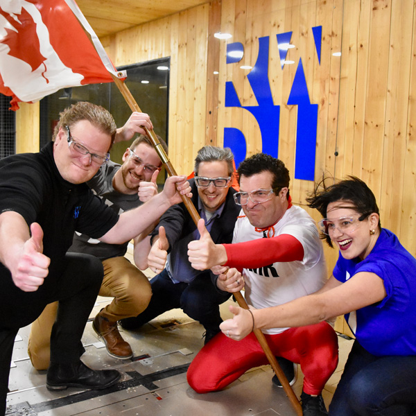 "Image: ""Prepare to be Blown Away"": CBC's Rick Mercer Experiments in the Wind Tunnel!"