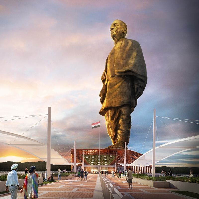 sculpture of Indian independence leader Sardar Vallabhbhai Patel