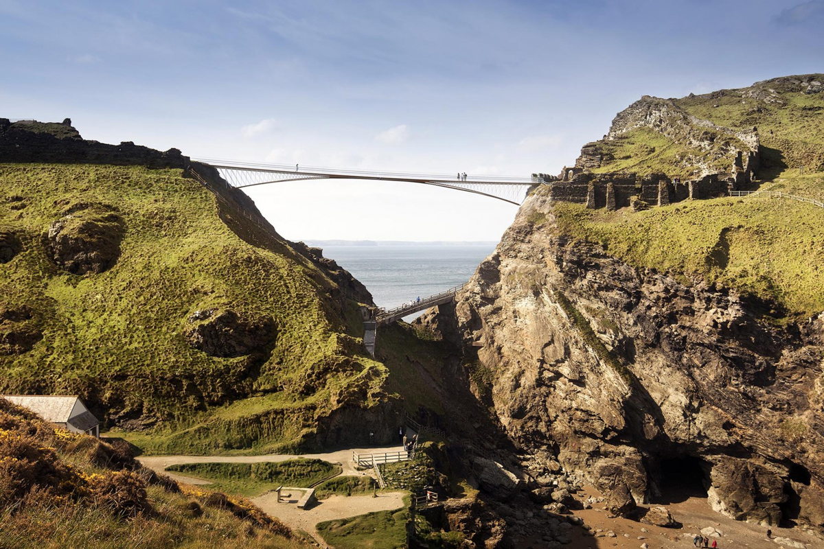 Image: Tintagel Castle Bridge