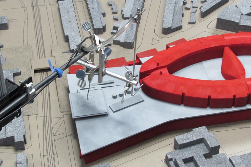 Model of New Children's Hospital Helipad
