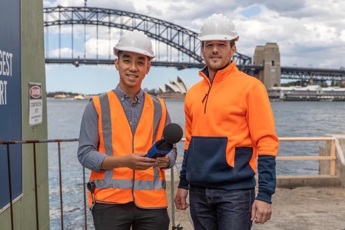 Acoustics technicians at Sydney harbour Thumb