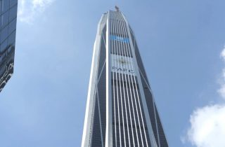 Image: Jon Galsworthy on the 115-story Ping An IFC Tower