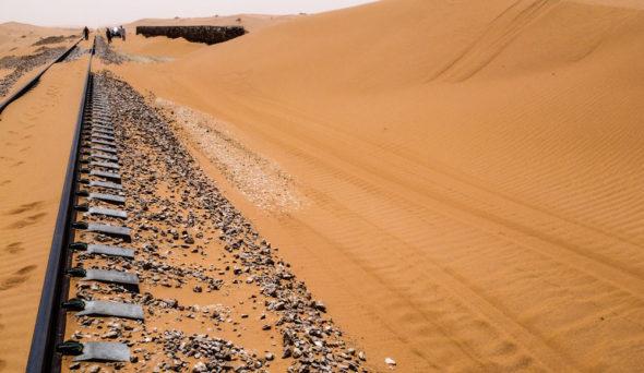 Sand on railway line
