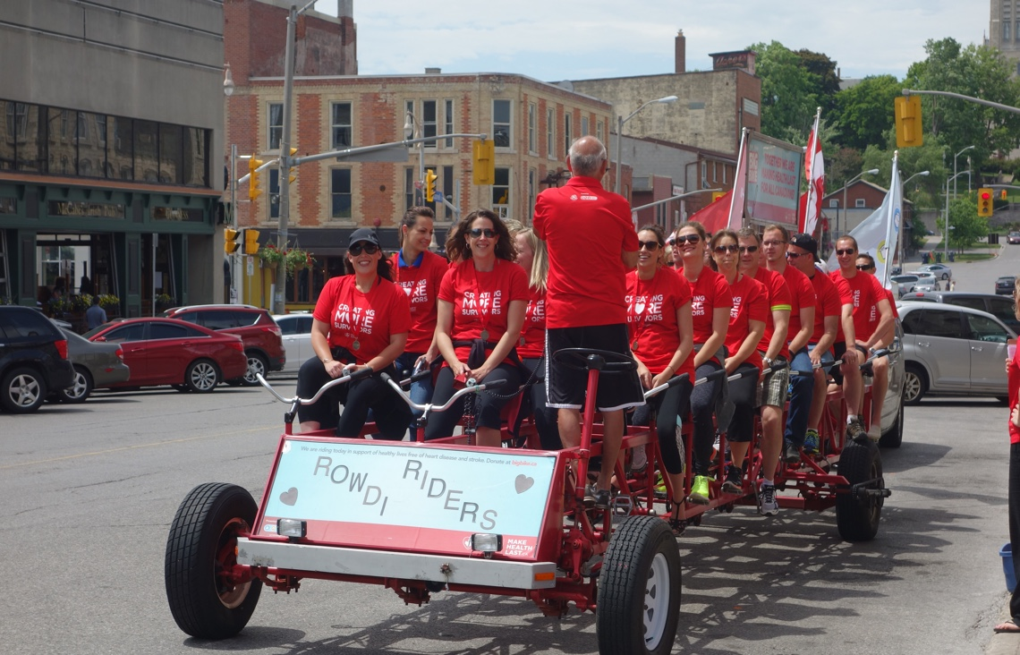 RWDI team riding the Big Bike for the Heart and Stroke Foundation
