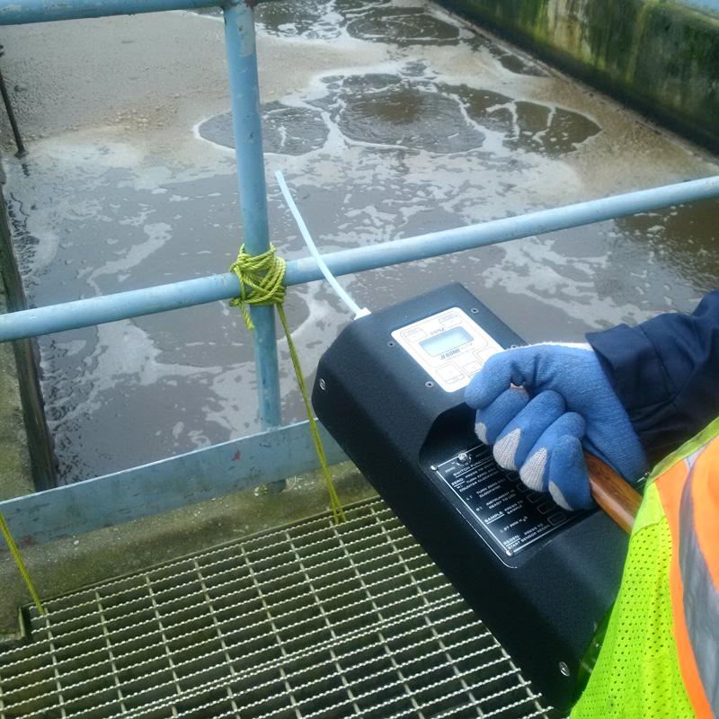 waste treatment plant odour analysis