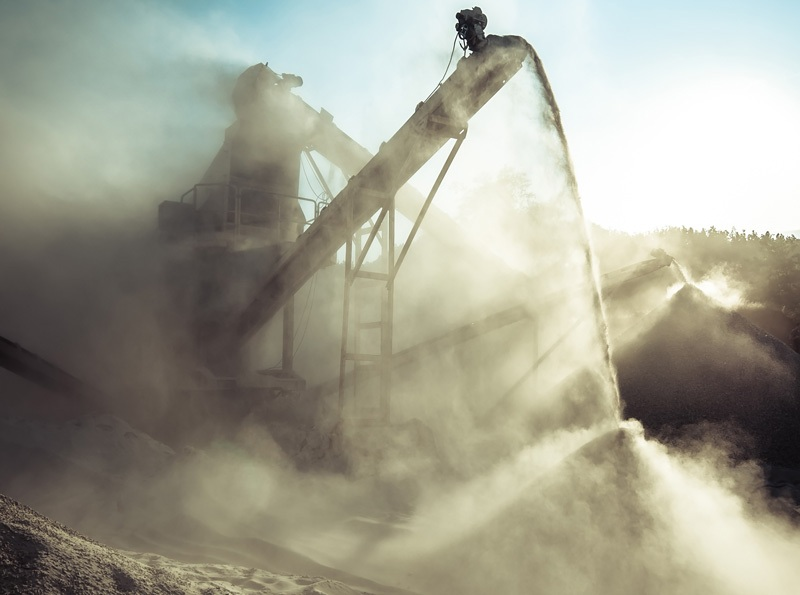dust generated by crusher