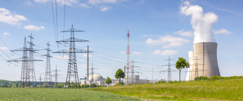 power lines and generation plant