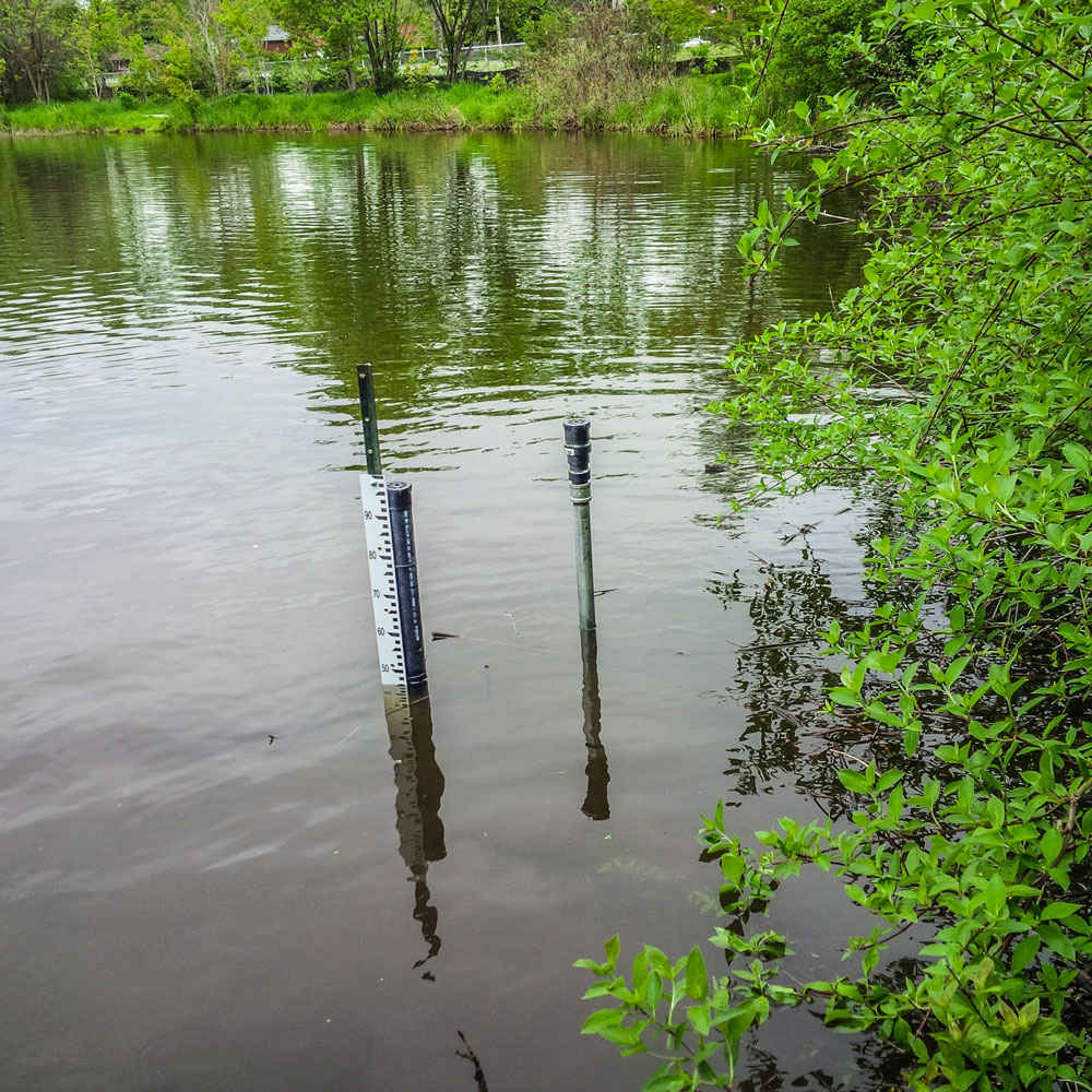 Water monitoring equipment in dam