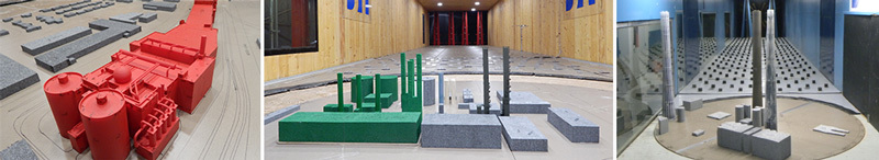 Industrial structures wind tunnel models