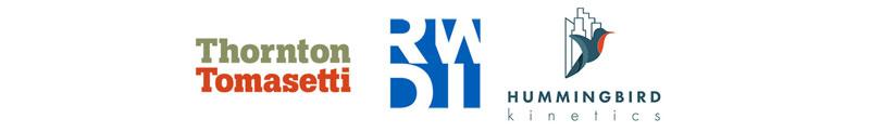Thornton Tomasetti, RWDI and Hummingbird logos