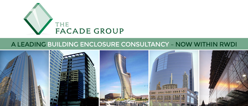 The Facade Group logo and projects