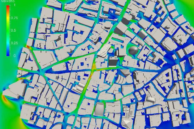 CFD simulation of London