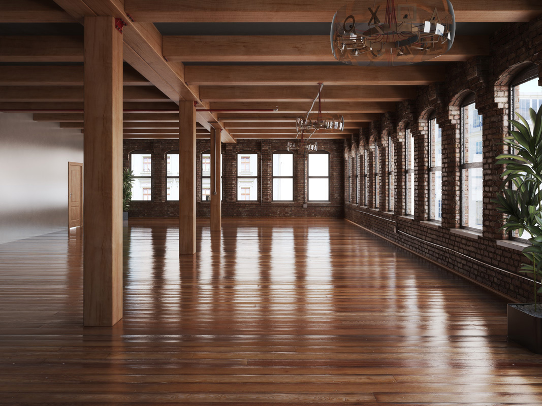 Mass Timber Construction Indoor Office Building