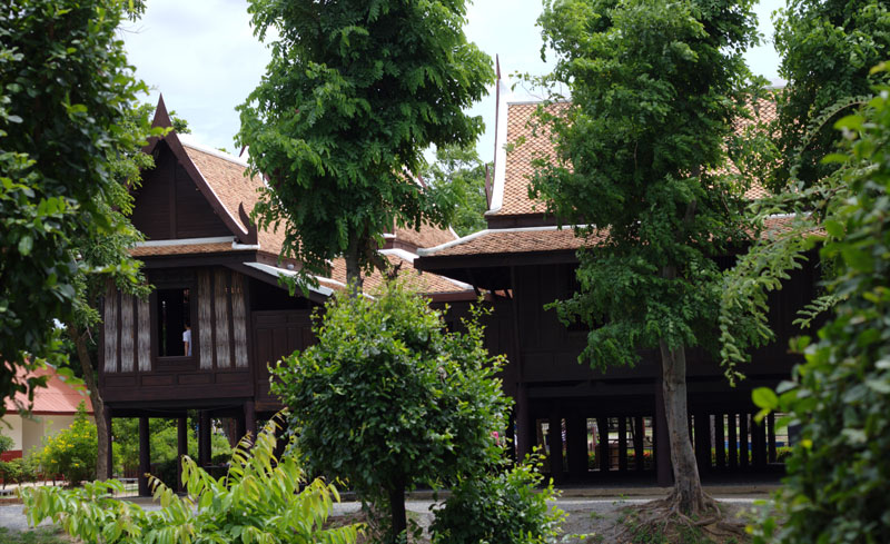 Traditional Thai building style suitable for local climate