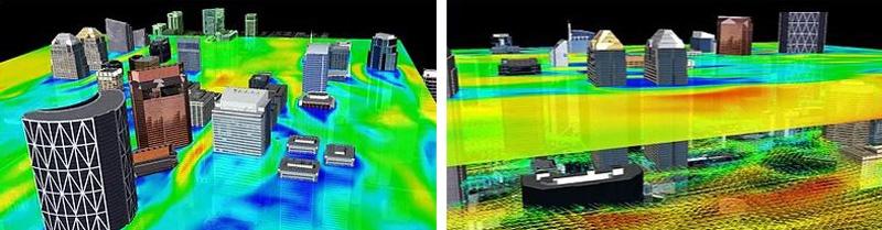 CFD wind simulation
