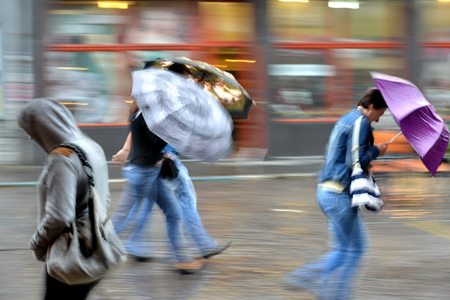 Image: Manage wind driven rain to create a comfortable urban environment